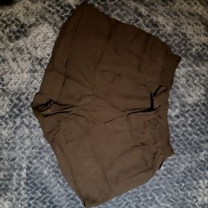 Black cover up shorts